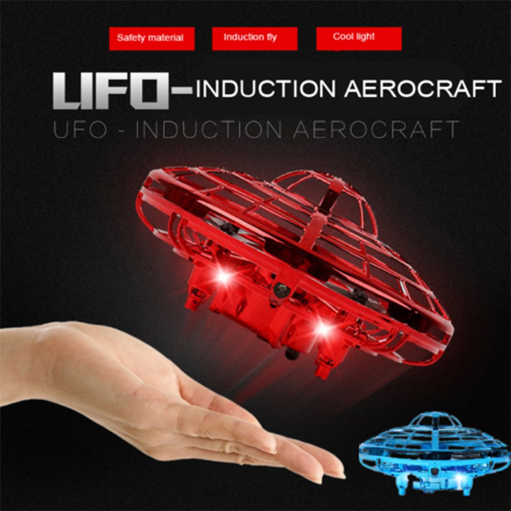 UFO Hand Flying UFO Mini Induction Suspension RC Aircraft Drone Toys Gift Sensing And Lights
