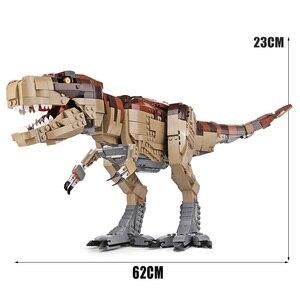 Image 3 - Создатель Юрского периода парк Rampage тираннозавр рекс набор совместим с 75936 строительные блоки кирпичи игрушка Рождественский подарок