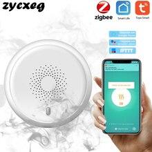 Tuya zigbee alarme inteligente detector de sensor de fumaça sistema de segurança em casa inteligente smartlife aplicativo notificação