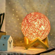 LED Night Light Ball Style With USB Charging Sepak Takraw Lamp For Home Bedroom Decoration