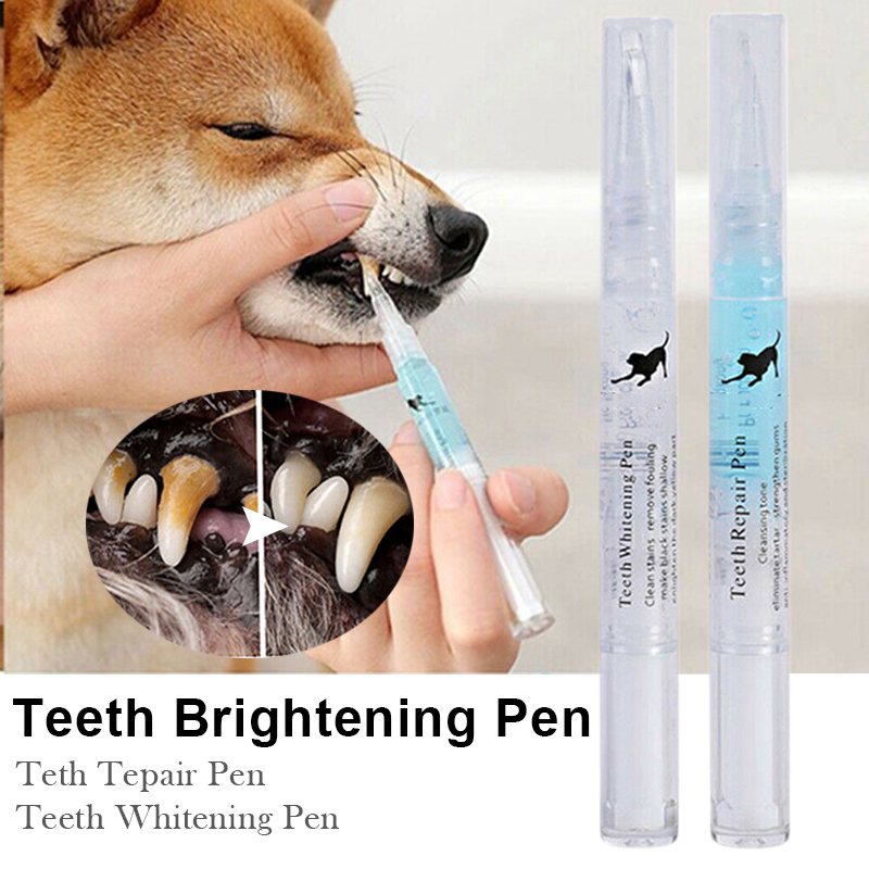 Pets <font><b>Dogs</b></font> Teeth Tartar Calculus Stones Remover Toothbrush Cleaning Kit Pet Oral Teeth Care Supplies Suitable For All Pets image