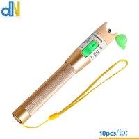 10pcs/lot Golden 10 20km red light source fiber test pen 20MW visual fault locator