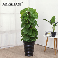 100cm Tropical Monstera Big Artificial Tree Large Fake Plant Plastic Palm Tree Plastic Turtle Leaves For Home Party Office Decor