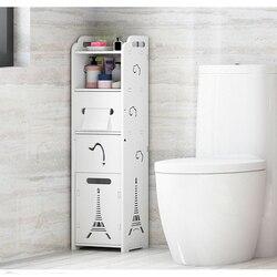 Półka łazienkowa stojące miejsce do przechowywania szafka szafka Gap toaleta narożnik boczny
