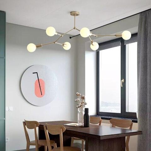 quarto decoracao molecular lustres e27 restaurante cozinha