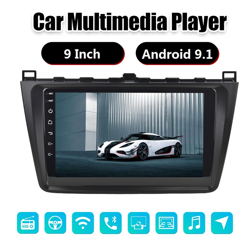 9 Inch Android 9.1 2.5D HD Press Sn Car MP5 Player 1G+16G Wifi Bluetooth FM Radio for Mazda 6 GPS Navigation|Car MP4 & MP5 Players|   - AliExpress