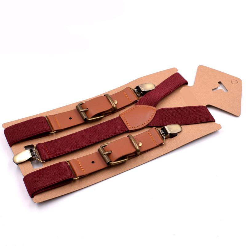 Fashion Three Clip Children's Strap Clip Boys And Girls Sling Straps 2.5 Spell Leather Children