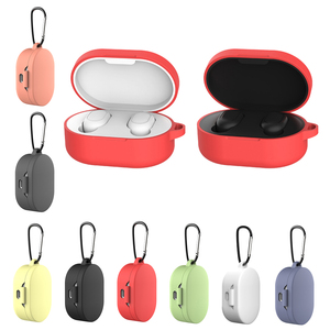 Image 3 - Silicone Case Protective Cover For Xiaomi Airdots TWS Bluetooth Earphone Youth Version Headset Silicone Protective Cover Case
