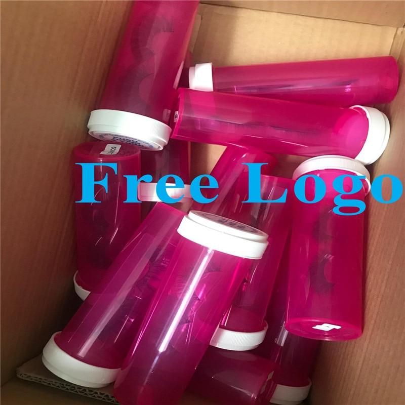 2020 Private Label Custom Pill Bottle Eyelash Packaging Box 100% Real Mink Fur Lash