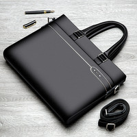 High Quality Men's Genuine Leather Business Laptop Handbags Man Leather Notebook Computer Handbags For Macbook Air 13 Case Mate