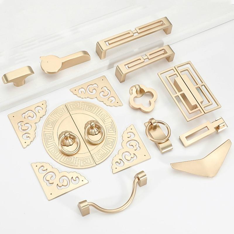 Gold Cabinet Knobs and Handles Luxury Gold Kitchen Cupboard Door Pulls European Drawer Furniture Handle Hardware