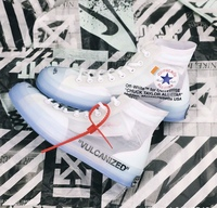 2020 NEW ALL star 1970S womens crystal bottom OFF mesh shoes high canvas shoes sports white OW sneakers