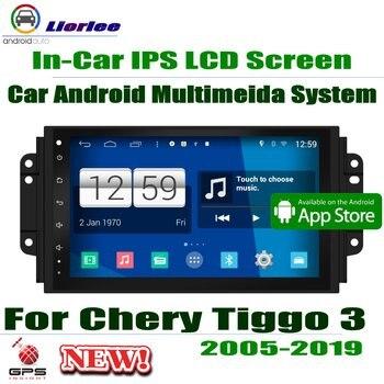 """9 """"HD táctil completa IPS LCD pantalla Android 8 Core para Chery Tiggo 3 2005 ~ 2019 Radio estéreo de Audio y vídeo sistema de navegación GPS"""