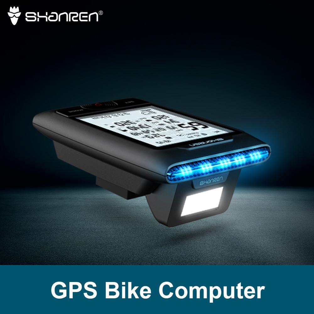 SHANREN DI-PRO GPS Bike Computer 96-Hour Cycling GPS Bicycle Computer With Headlight