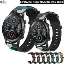 Correa de silicona colorida para Huawei Honor Magic Watch 2, 46mm, 42mm, 20/22mm, Correa deportiva para Huawei honor magic