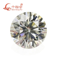 cheaper 6.5mm IJ olor white Round Brilliant cut Sic material moissanites loose stone with NGSTC certificate