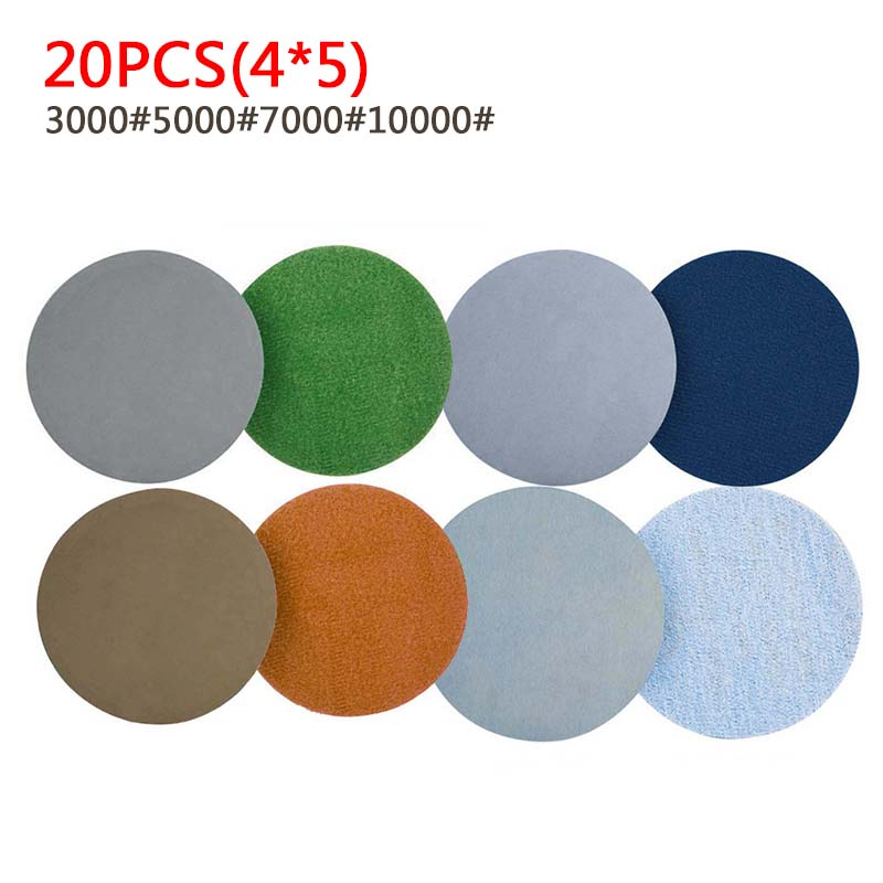 Abrasive Paper Sanding Pad Disc 20ps 74mm Water Grinding 3 Inch 3000-10000 Grit Wet Dry Sand Papers Replacement