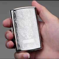 New 1pcs -High Quality Siver Printed Flower cigarette case hold 12pcs cigarettes Cigarette box /holder