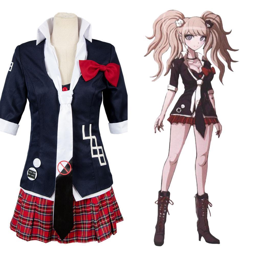 Danganronpa Enoshima Junko Cosplay Costume School Uniform Suit Fancy Dress 2 Ver