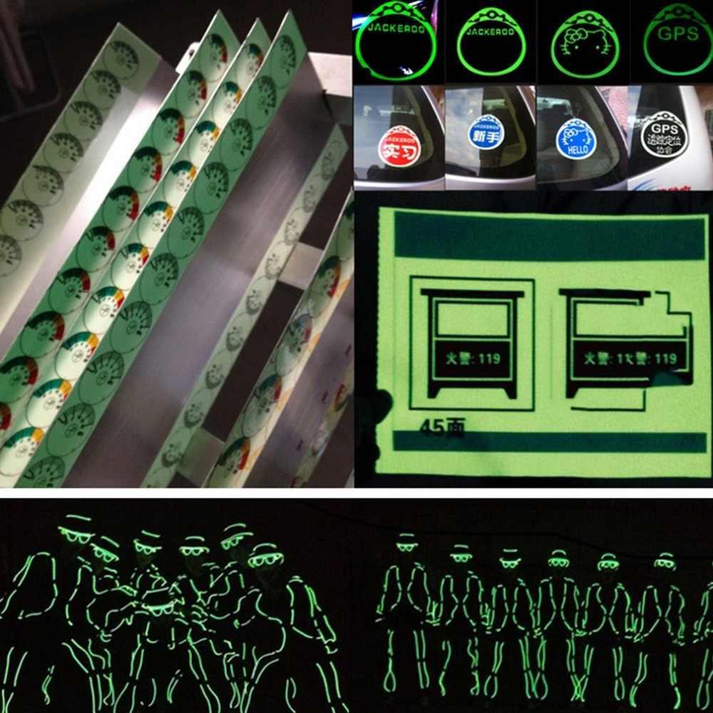 Decorazione Della casa Luminoso Nastri Rotolo Luminoso Rubinetto Autoadesivo Nastro di Avvertimento di Visione Notturna Bagliore Nel Buio di Sicurezza di Sicurezza