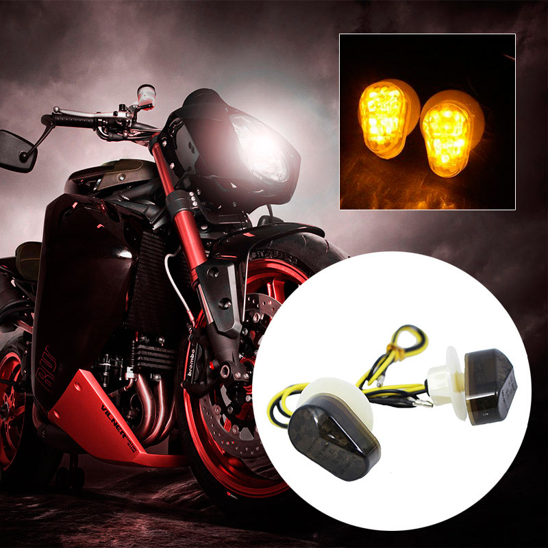 2Pcs Motorbike LED Turn Signal Light Lamp Bulbs Indicator For Yamaha 12V