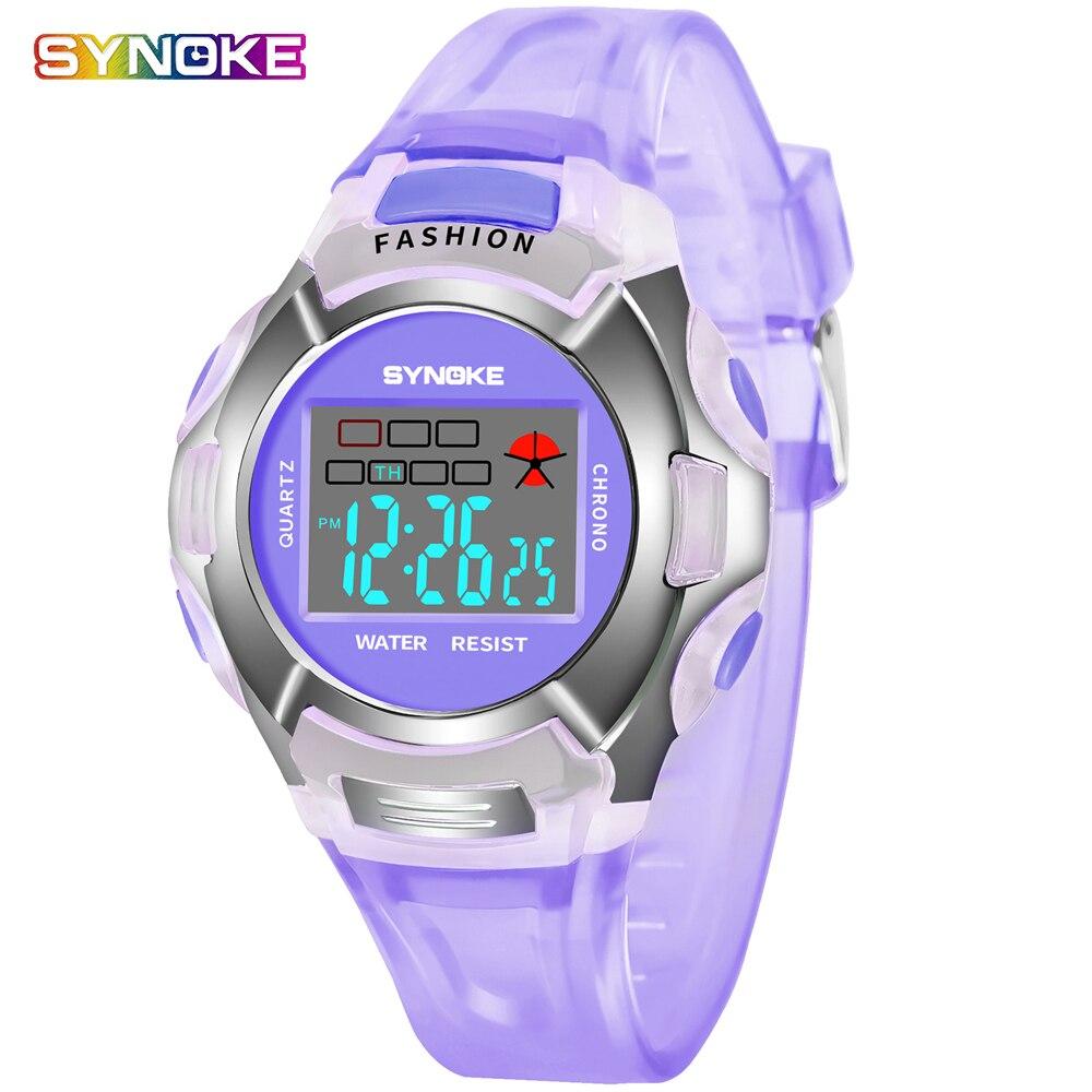 Fashion Boys Girls Electronic Digital Watch Outdoor LED Sport Watches Students Clock 30M Waterproof Wristwatch For Children Kids