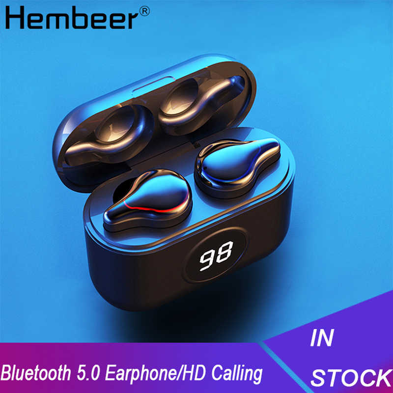 Hembeer Tws Wireless Headphone Bluetooth 5.0 Headphone Kebisingan Membatalkan Earbud Audifonos Bluetooth Inalambrico Auriculares