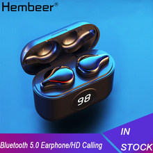 Hembeer Tws Wireless Headphone Bluetooth 5.0 Headphone Kebisingan Membatalkan Earbud Audifonos Bluetooth Inalambrico Auriculares(China)