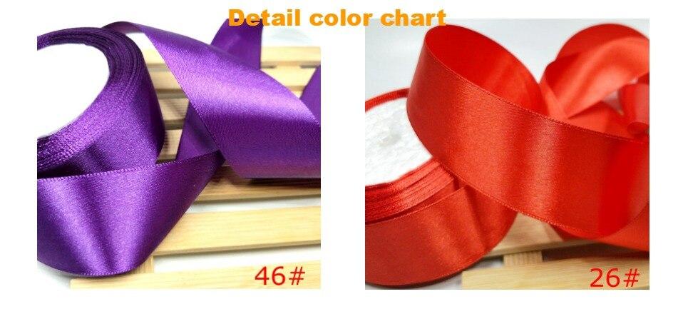 H38de4813d0f34cd4a68bd0737a96af55I HL 5 meters 15/20/25/40/50mm Solid Color Satin Ribbons Wedding Decorative Gift Box Wrapping Belt DIY Crafts
