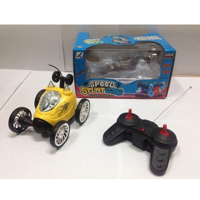 Children Electric Stunt Fan Gun Che Toy Remote Control Dump Truck Rolling Light Toy Car Wholesale Hot Selling New Style