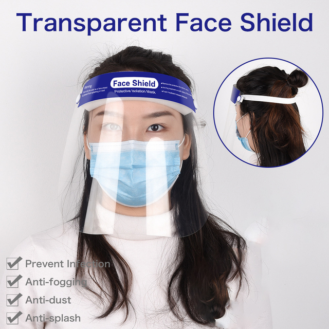 5pcs/lot Safety Clear Grinding Face Shield Screen Mask Visor Eye Protection Anti-fog Protective Prevent Saliva Splash Mask 1