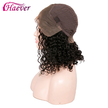 Haever Short Bob Curly Human Hair Wigs With Baby Hair 150% Brazilian Remy New Hair Lace Front Human Hair Wigs PrePluckeds 13x4