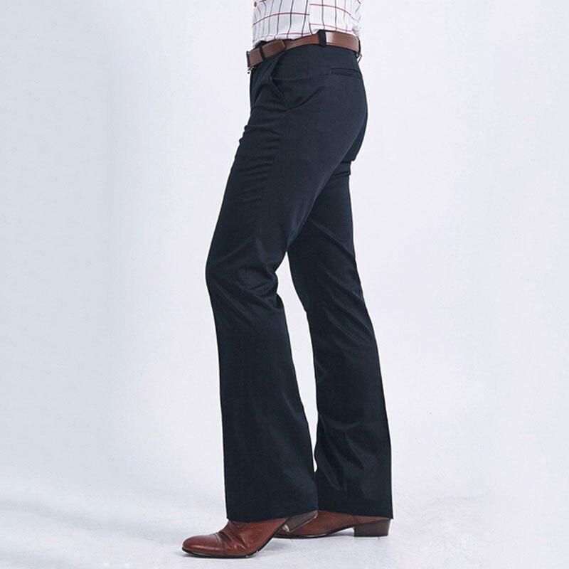 Men's Trousers Color: Black Navy Blue 2020 Men's Business Casual Flare Pants Slim-free Trousers Men's Korean Wide-leg Pants