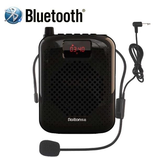 Bluetooth Loudspeaker Portable Auto Pairing Voice Amplifier Megaphone Speaker USB Charger For Teaching K500 Microphone