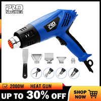Prostormer 2000W industriel électrique pistolet à Air chaud double température contrôlée bâtiment sèche-cheveux température pistolet à chaleur buse