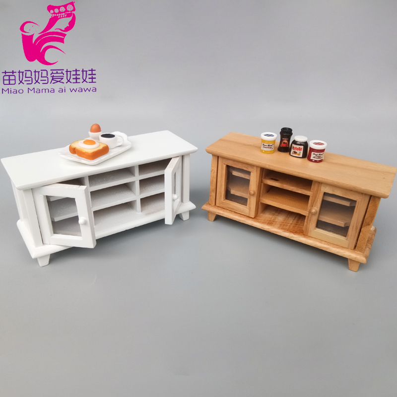 Doll House Diy Furniture Wood Kitchen Table Cabinet For Barbie Blythe Doll Furniture 1/6 BJD Doll Ob11 Accessories