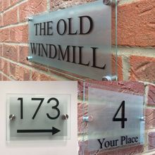 MODERN HOUSE SIGN PLAQUE DOOR NUMBER STREET GLASS EFFECT ACRYLIC HOUSE NAME custom house number acrylic house sign with house number
