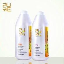 2pcs PURC Brazilian Keratin Treatment straightening hair 8% Formaldehyde and 12% Formaldehyde straighten hair products PURE