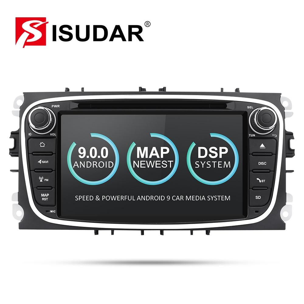 2 9 Isudar Reprodutor multimídia Carro Android GPS Din dvd player do carro para FORD/Focus/S-MAX/Mondeo /C-MAX/Galaxy wifi DSP rádio do carro DVR