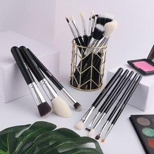 Image 5 - BEILI Black Premium Professional 22pcs Makeup Brushes Set Powder Foundation Goat hair Eyeshadow Blending Beauty Make up Brushes