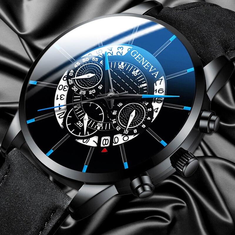 Relogio Masculino 2020 Fashion Mens Watch Stainless Steel Wrist Watch Calendar Quartz Wrist Watches Ultra Thin Mesh Luxury Clock