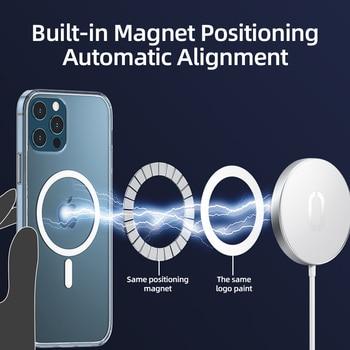 Прозрачный Магнитный чехол Joyroom для телефона iPhone 12 Pro Max 12 Mini