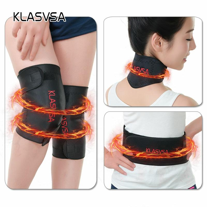 3pcs/set Self-heating Tourmaline Knee Belt Neck Magnetic Therapy Belt For Back Waist Support Brace Massager Tourmaline Products