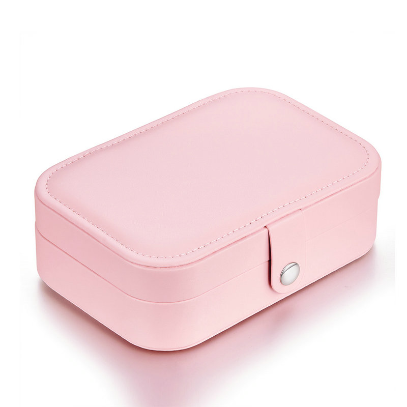 Bamoer Pink Multi-function PU Leather Jewelry Box Storage Box Ring Display Case Lady Storage Box Cage Only BZ0065