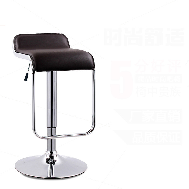 Simple Design Lifting Swivel Bar Chair Rotating Adjustable Height Pub Bar Stool Chair PU Material Office Chair Cadeira