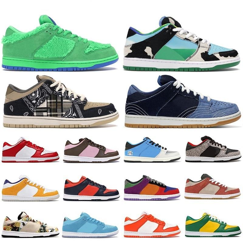 New Chunky Dunky SB Dunks Shadow Ben Jerry  Board Shoes Samba Sashiko Pale Ivory Low Platform Mens Womens Trainers