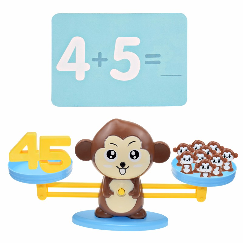 Montessori Math Toy Digital Monkey Balance Scale Educational Math Penguin Balancing Scale Number Board Game Kids Learning Toys Learning & Education cb5feb1b7314637725a2e7: banana monkey|brown monkey|Dog|elephant|flog|mouse|Penguin|pig|pink monkey