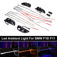 NEW 1Set Car Interior Decorative Led Ambient Car Door Light Stripes Atmosphere Light With 3 Colors For BMW F10/ F11