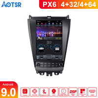 Aotsr Tesla 12.1 Vertical screen Android 9.0 for Honda Accord 2003 2007 Car DVD player Navigation multimedia head unit player