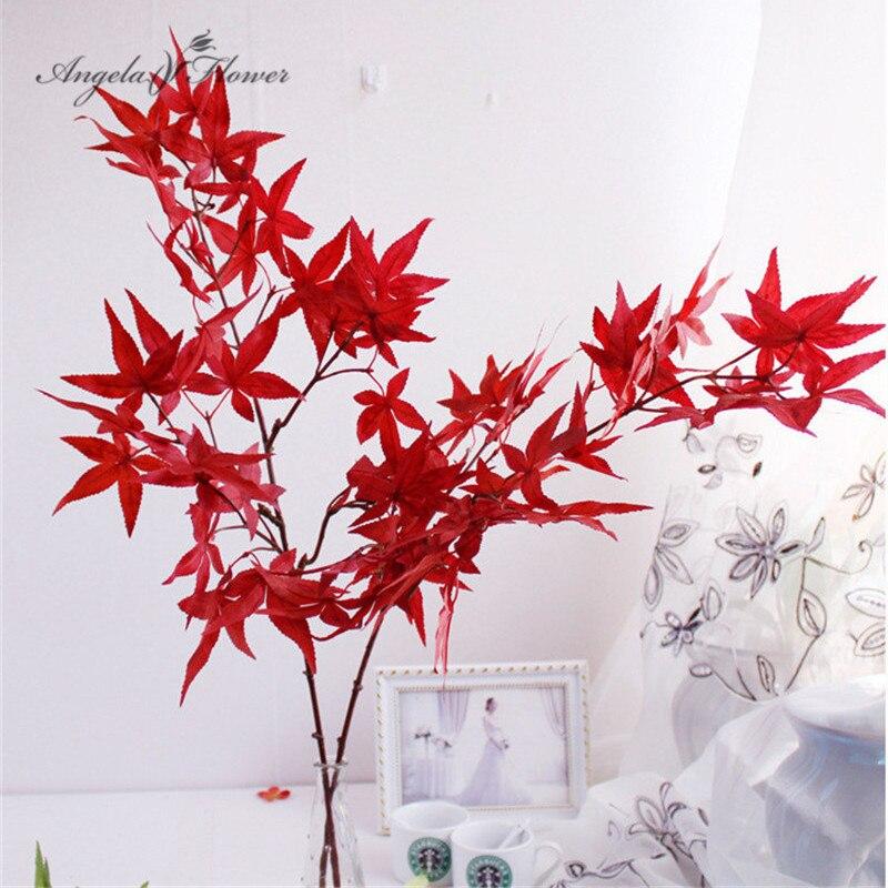 Осенняя искусственная шелковая зеленая искусственная зеленая имитация листьев 32, для домашвечерние, рождественского сада, кленовых листье...